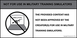 Not For Use In Military Training Simulators